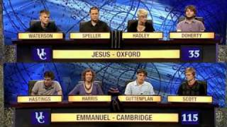 University Challenge - Jesus, Oxford vs Emmanuel, Cambridge. Part 2 of 3.