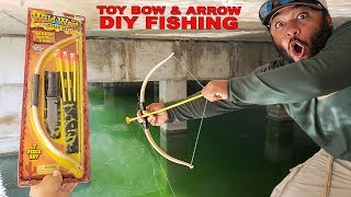 DIY Toy BOW and ARROW Fishing   Monster Mike