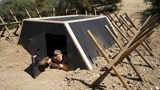 We Built an Underground Zombie Apocalypse Survival BUNKER!!