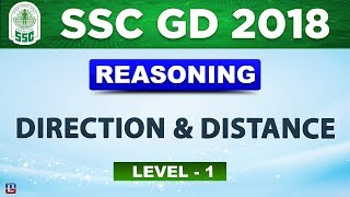 Direction & Distance   Level 1   SSC GD 2018   Reasoning   Live at 3 PM