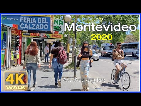 【4K】WALK La UNION Montevideo Uruguay 4K video UY Travel vlog