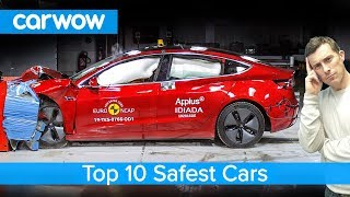 Tesla Model 3 crashed and the top 10 safest cars revealed!
