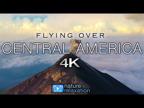 FLYING OVER CENTRAL AMERICA (4K) 15 Minute Aerial Drone Film + Calming Music & Location Information