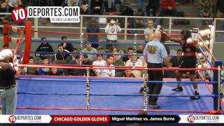 Miguel Martinez vs. James Burns Chicago Golden Gloves