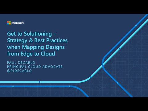 IoT ELP Module 5 (Main Presentation) - Strategy & Best Practices Mapping Designs from Edge to Cloud