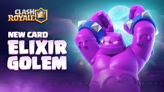 Clash Royale: NEW CARD - ELIXIR GOLEM! 👊 Season 4 Animation Reveal 🎃