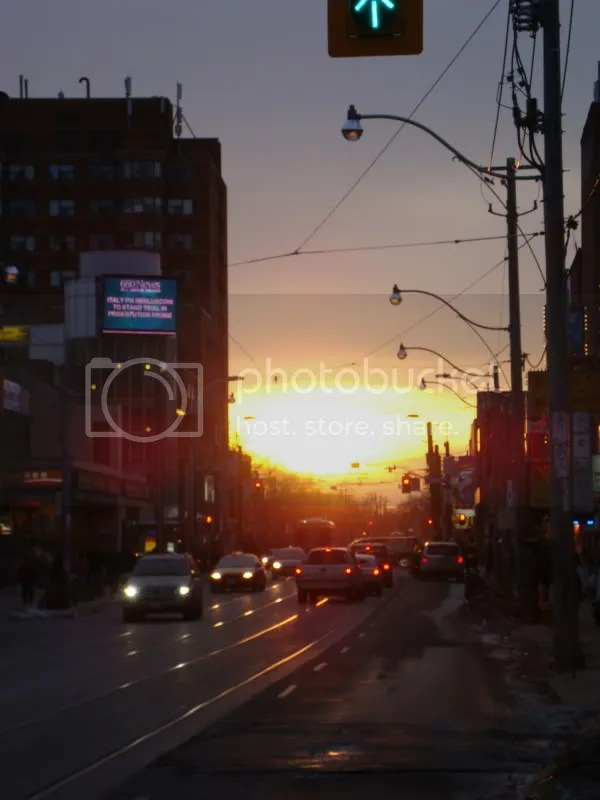 Sunset in Chinatown