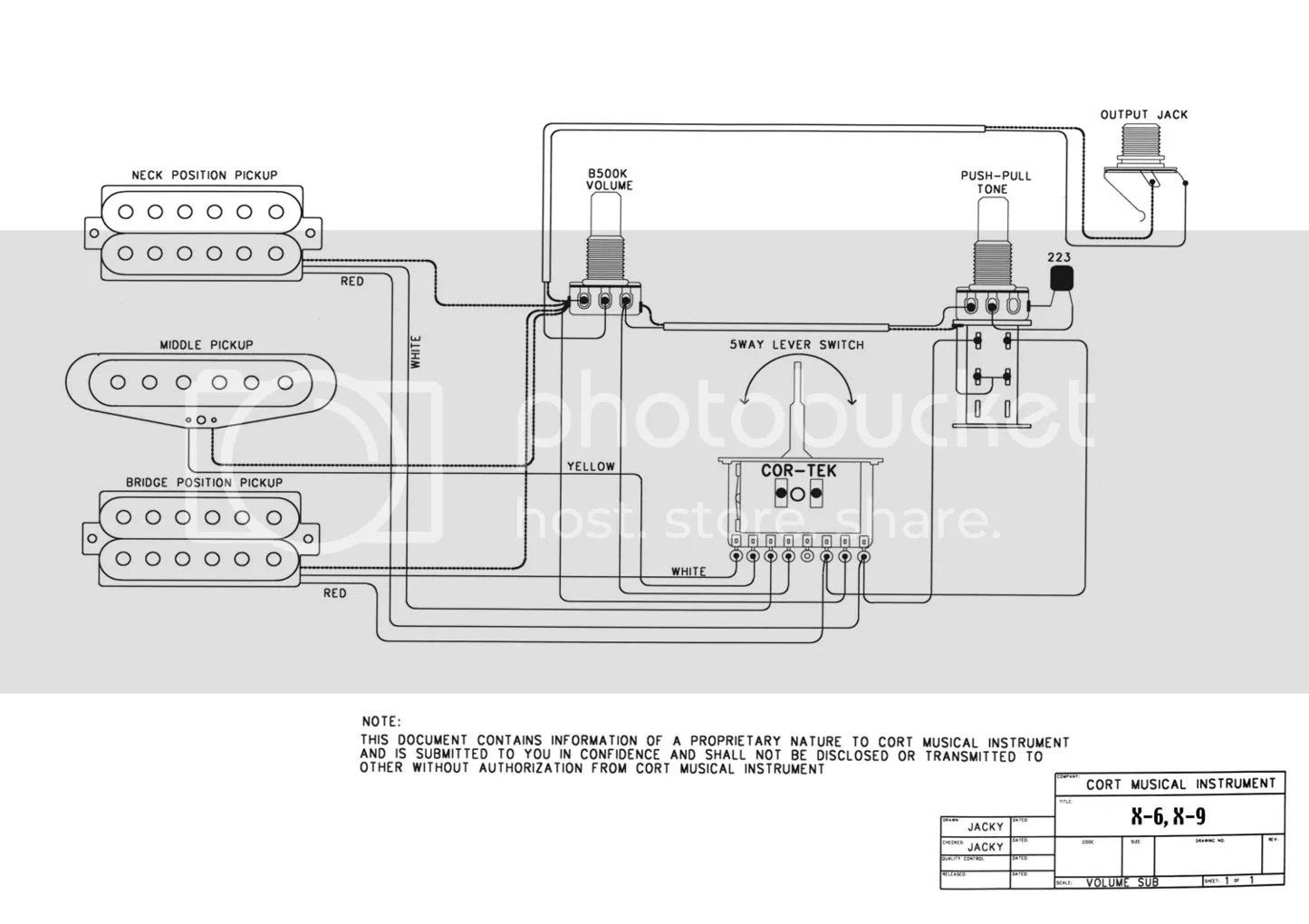 Single Coil Humbucker 1 Volume Wiring Diagram