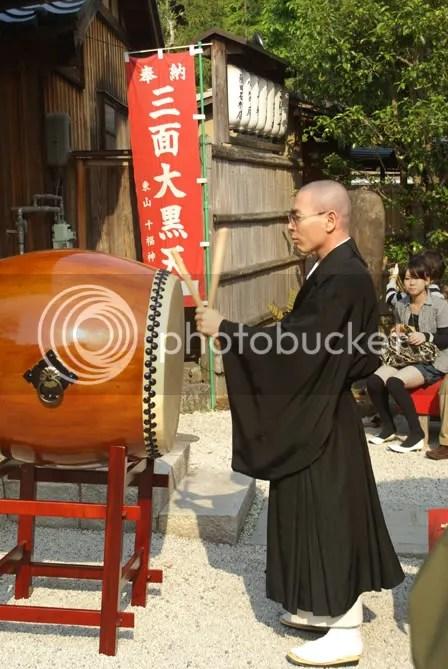 Kyoto buddhist monk drum
