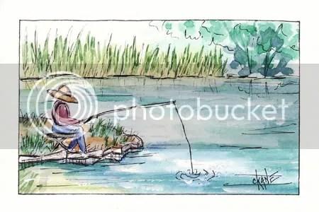 Fisherman at Papoose Lake - Palos Park, IL