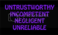 Unreliable? Untrustworthy?