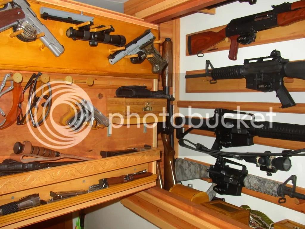 concealed gun cabinet plans