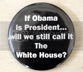 Racist Obama White House button