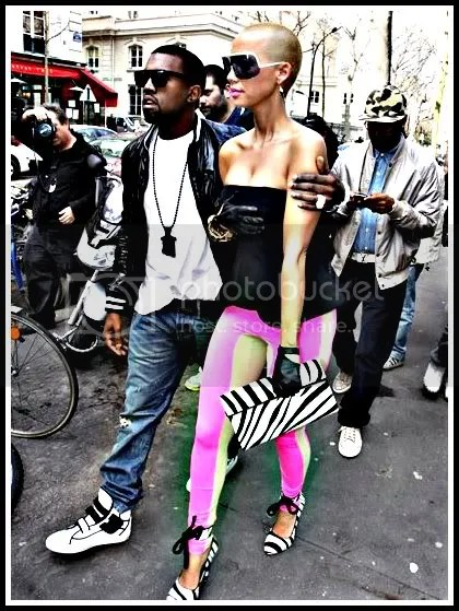 amber rose and kanye west Pictures, Images and Photos