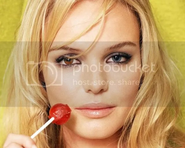 Heterochromia iridum:  Kate Bosworth example