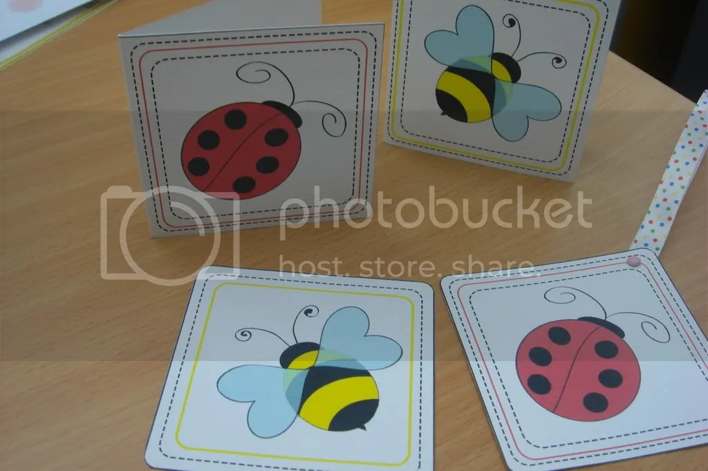 Little bugs - GIft tags & Bookmarks