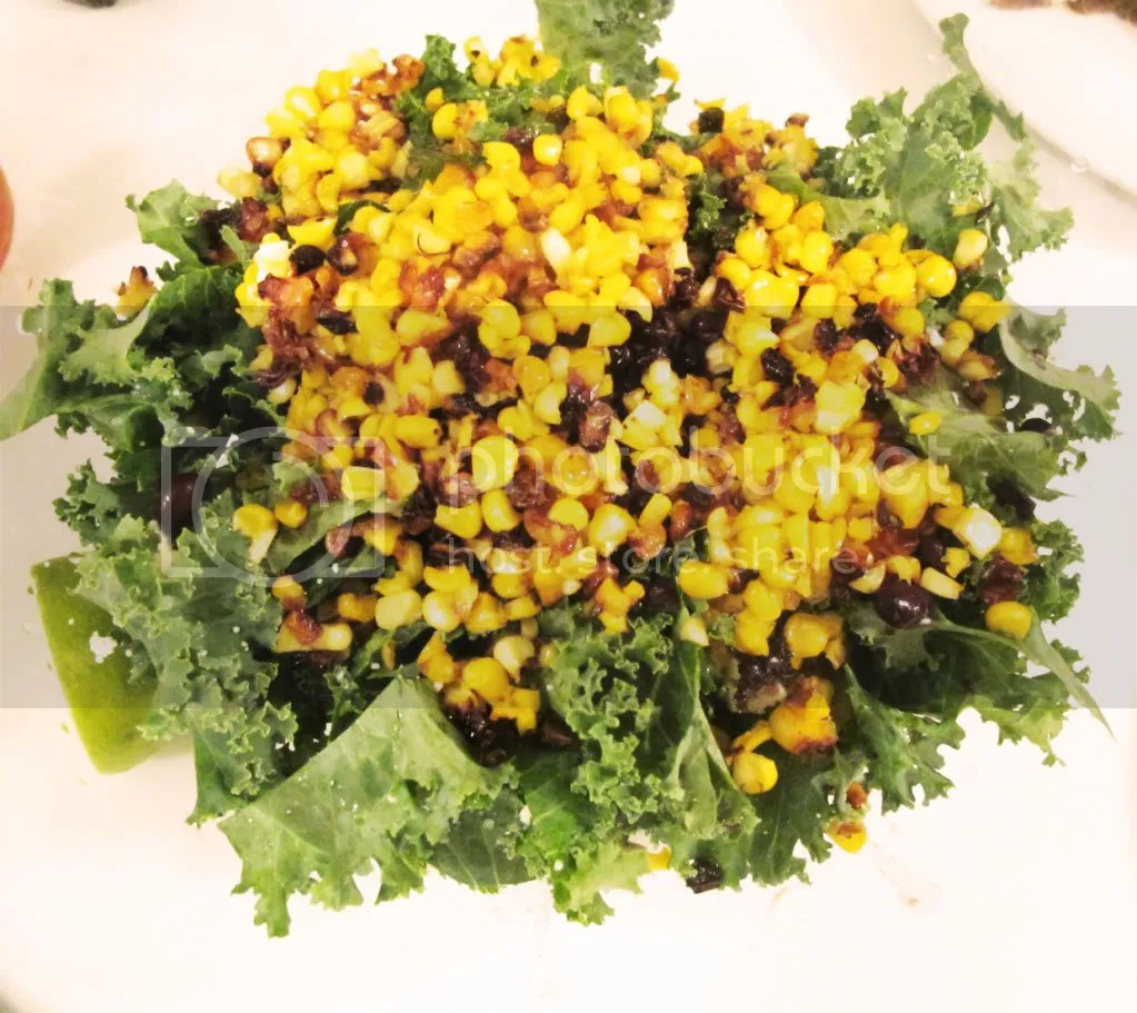 Roasted Corn and Kale Salad