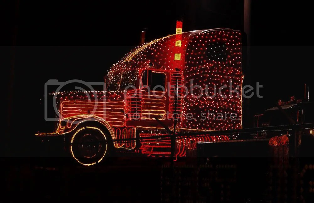 Christmas Truck Transportation In Photography On The