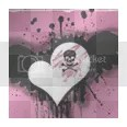 Pink Skull Heart Graphic