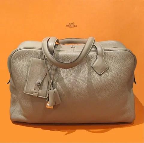 Hermès Gris Tourterelle Victoria bag