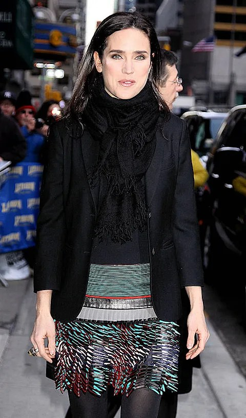 Photo of Jennifer Connelly pics in Balenciaga at David Letterman show