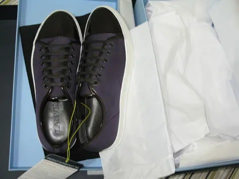 Patent leather toe men's Lanvin sneakers