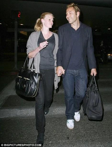 Engaged: Lara Stone and David Walliams (Little Britain) photo
