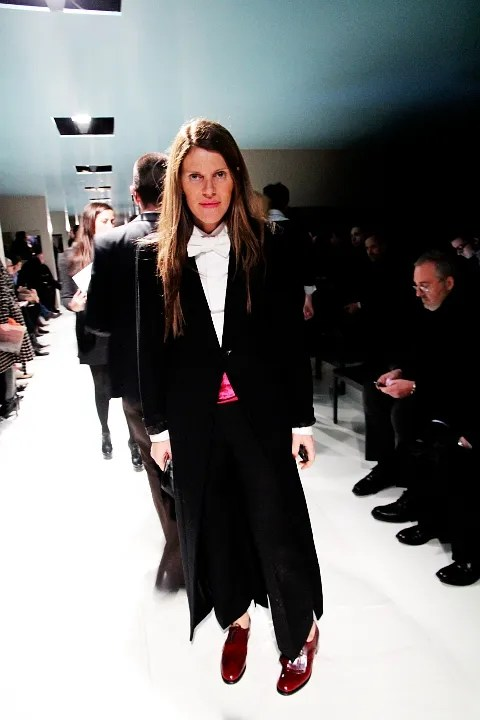 Anna Dello Russo at Prada Menswear Fall Winter 2011