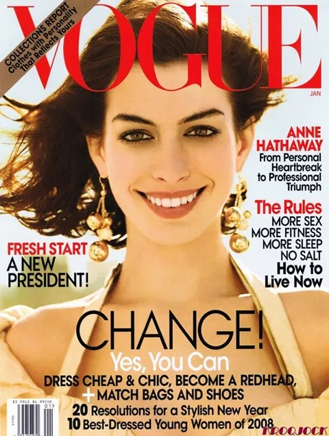 Anne Hathaway Vogue Cover January 2009