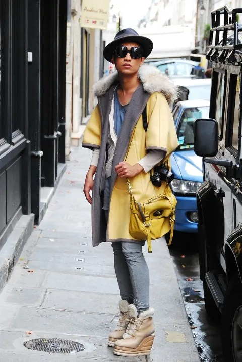 Bryanboy outside Vionnet