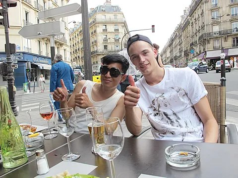 Bryanboy and Linus Gustin