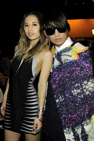 Rumi Neely and Bryanboy at Herve Leger Spring Summer 2011