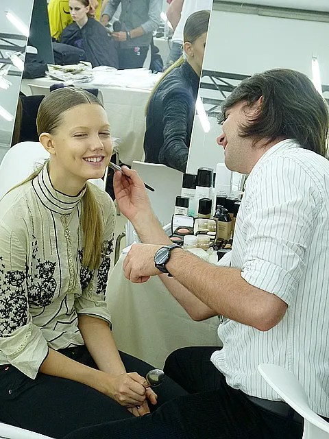 Lindsey Wixson backstage at Chanel spring summer 2011