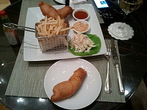 Fish and Chips at Four Seasons Hotel New York