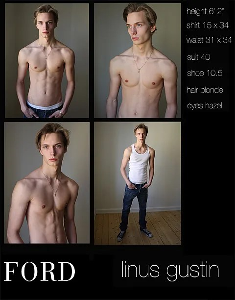 Ford Models Comp Card