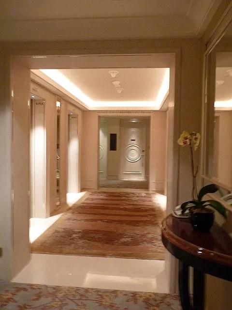 St. Regis Hotel Singapore fifth floor hallway