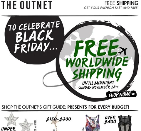 The Outnet Free Shipping