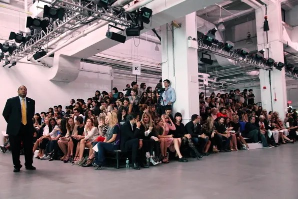The audience at 3.1 Phillip Lim spring summer 2012 fashion show
