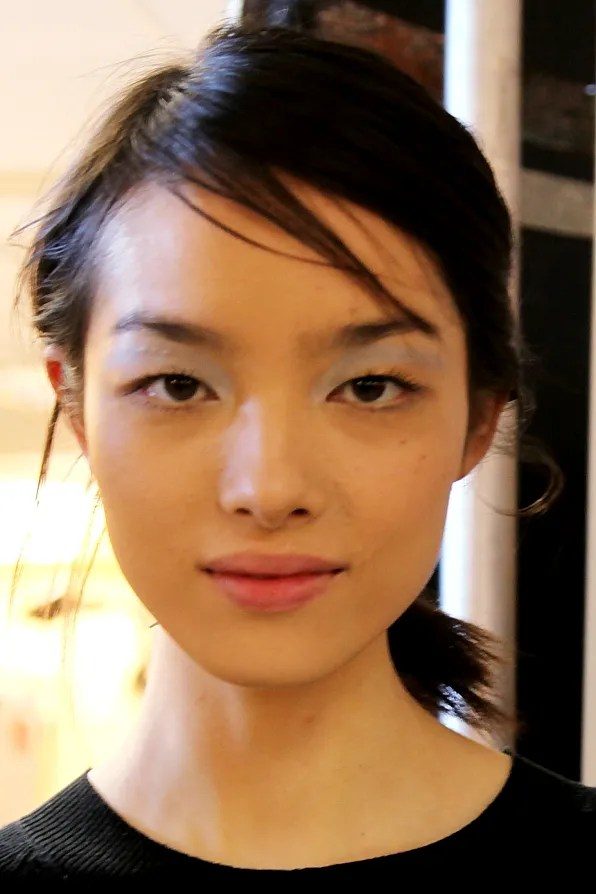 Fei Fei Sun backstage at 3.1 Phillip Lim spring summer 2012