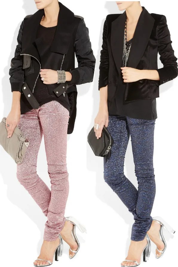 Alexander Wang metallic pants from fall/winter 2011 fashion show