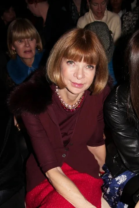 Anna Wintour at Isabel Marant Fall Winter 2011