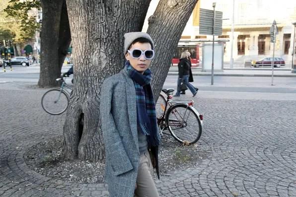 Bryanboy walking at Nybroplan