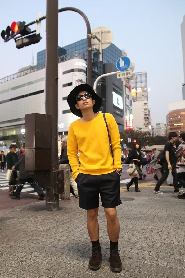 Bryanboy standing at Shibuya crossing.