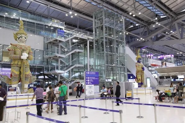 Bangkok Airport Arrivals Area