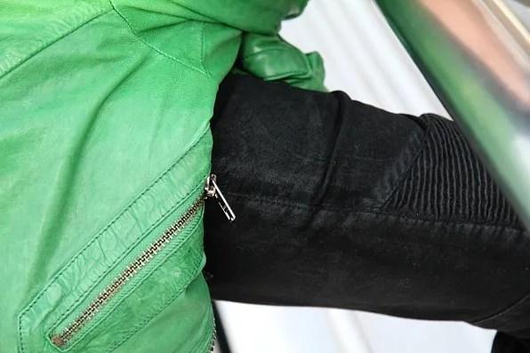 Black Balmain Jeans at Formula 1 Shanghai