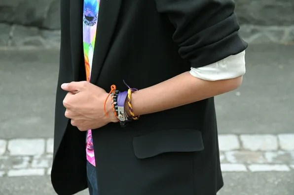 A selection of Bryanboy's bracelets