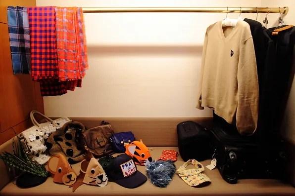 Bryanboy's accessories closet in Tokyo