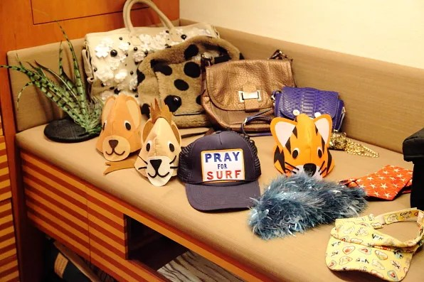 Bryanboy's hats and bags in Tokyo
