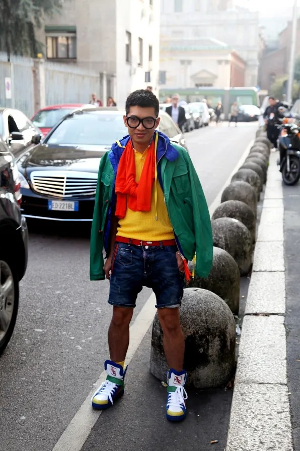 Bryanboy in head-to-toe Dsquared2 spring summer 2012