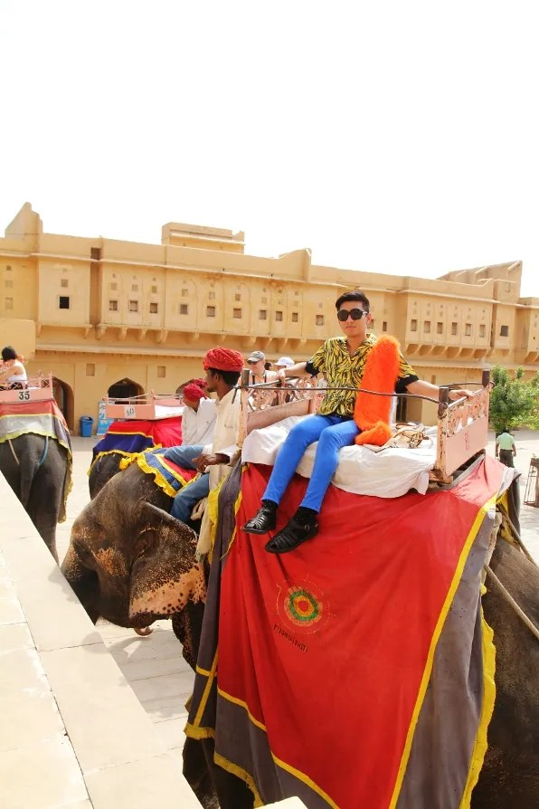 Elephant ride at Amber Palace, Jaipur